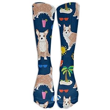 7bc20e683b3dd Fechahao Portuguese Podengo Dog Summer Beach Knee High Socks For Women And  Men-Fitness Novelty