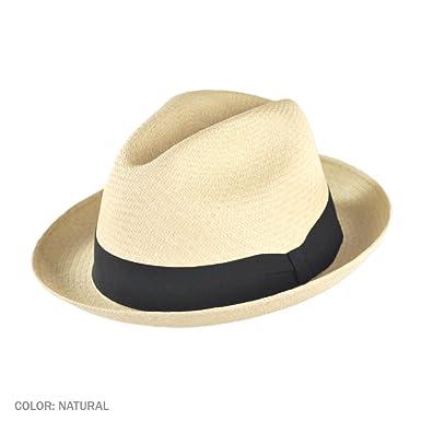 Jaxon Panama Straw Trilby Fedora Hat (Small) at Amazon Men s ... 7a6b50d5155