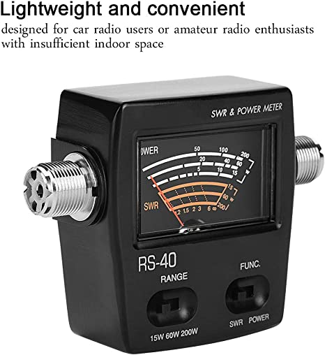 Taidda Power Meter Professional Lightweight UV Segment Standing Waves Meter Power Meter for Testing SWR Power for Car Radio Users