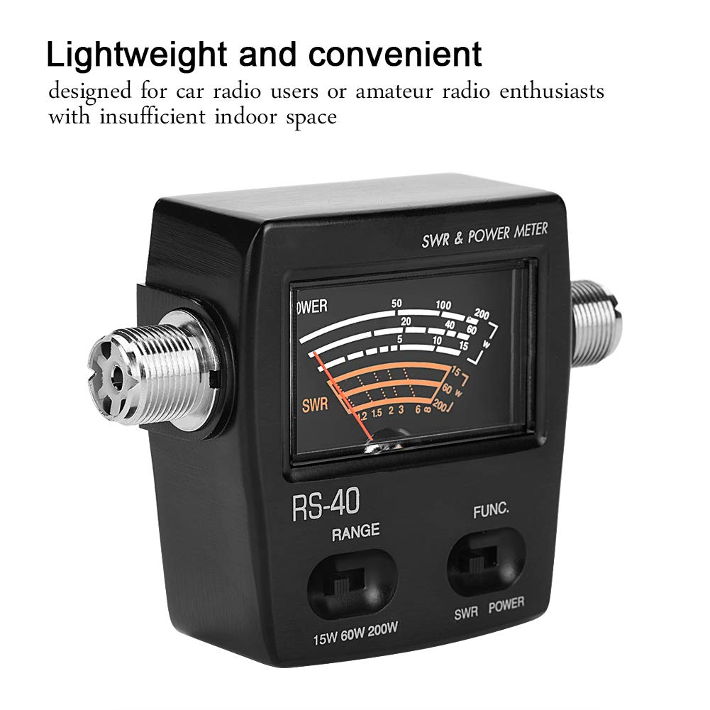 Up to 200W Power UV Segment Standing Wave Meter Power Meter for Testing SWR Power