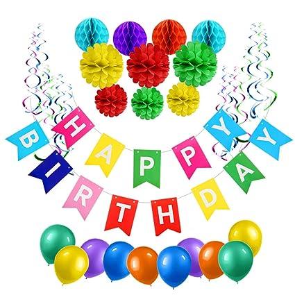 Amazon.com: 51 piezas de decoración de cumpleaños ...