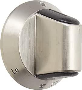 Frigidaire 318948100 Cooktop Burner Knob Stainless Genuine OEM part