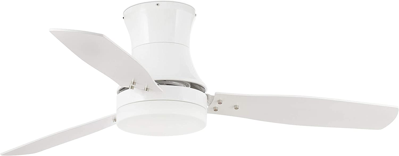 Faro Barcelona 33384 - TONSAY Ventilador de techo con luz Blanco 3 palas diametro 1320 con mando a distancia