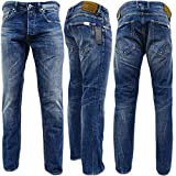 Replay Dark Blue Grover' Straight Fit With Distressed Finish -...