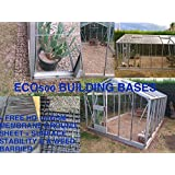 GREENHOUSE BASE GRID 2M X 1.5M SUITS 6X5 - 6X4 TO 7X5 FEET GREENHOUSES & SHEDS = FULL ECO KIT + HEAVY DUTY MEMBRANE - PLASTIC ECO PAVING SLAB BASES & DRIVEWAY GRIDS