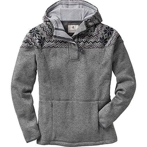Legendary Whitetails Ladies Atomic Fleece 1/4 Zip Hoodie Charcoal Heather Large