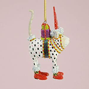 Patience Brewster Mini Pat Santa Hat Cat Christmas Figural Ornament 08-30585