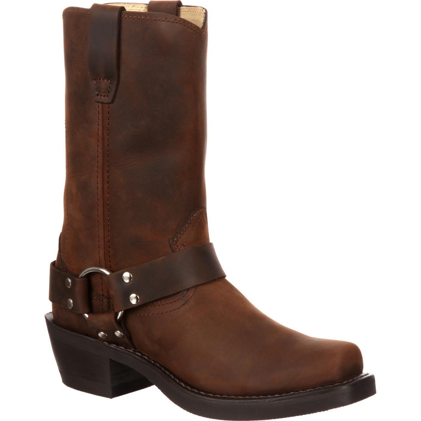 Durango Men's DB594 11'' Harness Boot Distressed Brown 9.5 D - Medium