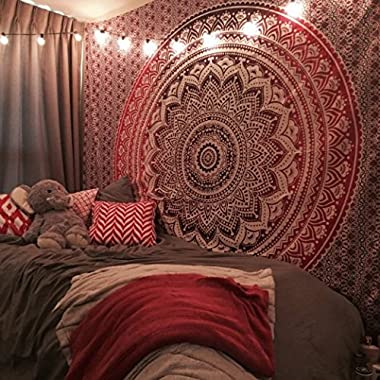 New launched  Popular Ombre Tapestry Indian Mandala Wall Art, Hippie Wall Hanging, Bohemian Bedspread By Popular Handicrafts