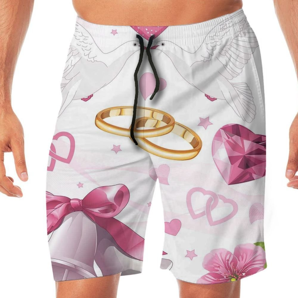 Haixia Men Summer Beach Shorts Wedding Decorations Wedding Themed Artwork Invit
