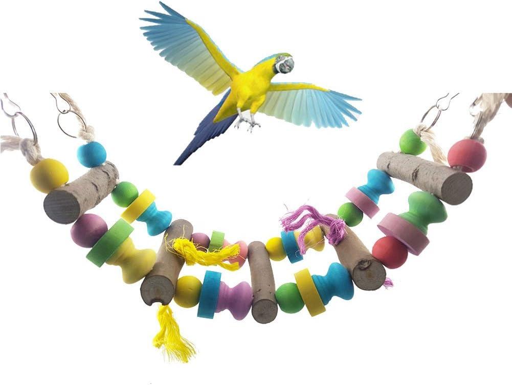 Bbl345dLlo - Juguete de Columpio para Mascotas, diseño de pájaro, Periquito, Periquito, cacatúa, Puente, escaleras, Juguete para Colgar: Amazon.es: Productos para mascotas