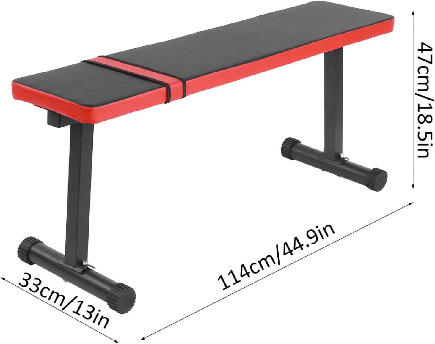 33 x 47 x 114cm bis 300 kg belastbar Ausla Hantelbank Hochwertige Hantel Flachhocker Flachbank Trainingsbank