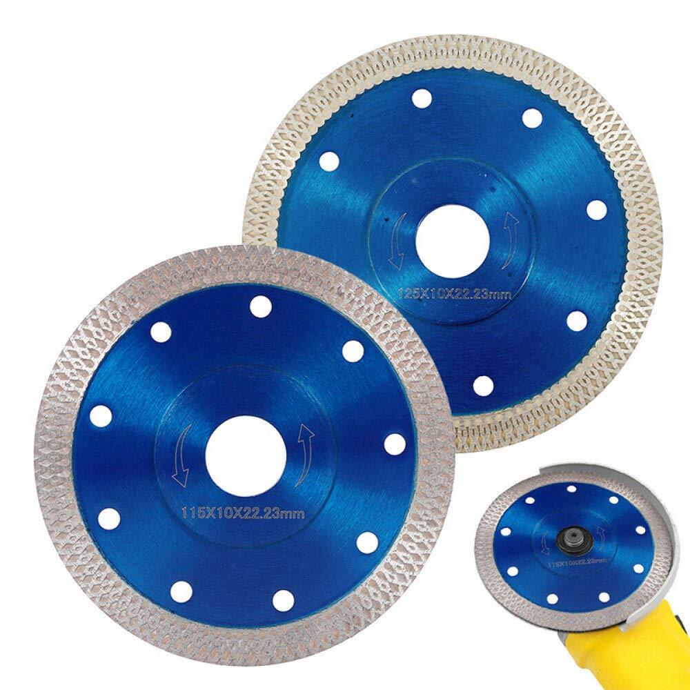 A WHLDZS Sierra de corte Disco de sierra de diamante Turbo de 115 mm Disco Azulejo de porcelana Cuchillas de corte de m/ármol de granito de cer/ámica para amoladora angular