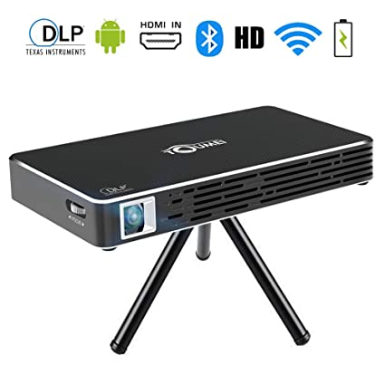 TOUMEI Mini Proyector, Proyector Portátil Android 7.1 DLP Video ...