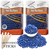 Aroma Trees 600g Unisex Hair Removal Hard Wax Beans for Safe, Pain-free Removal, Full-Body Depilatory Wax Beads – Pack of 2 (2 x 300g) Chamomile Flavor With 20 Wax Applicator Sticks 6″ Review