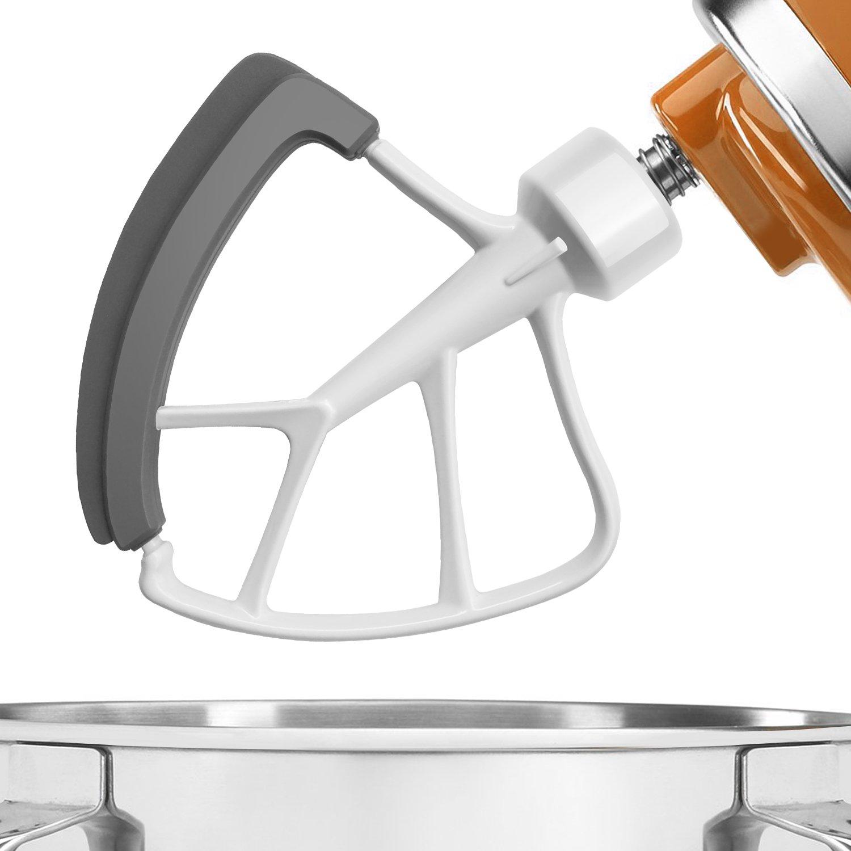 KITCHPOWER 455 Quart Flex Edge Beater for KitchenAid TiltHead Stand Mixers White