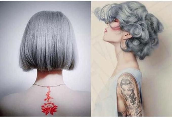 Ecurson - Tinte de pelo permanente, 100 ml, color gris plata y crema