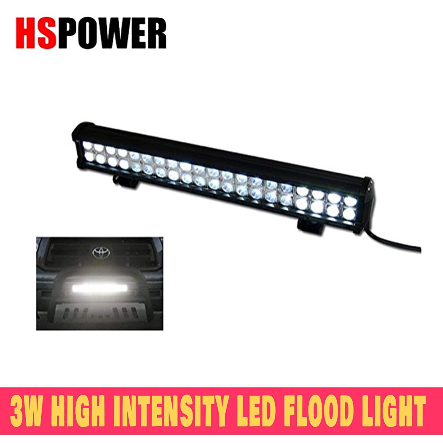 HS Power Offroad Flood Light Bar 120W Cree LED Spot Bull Guard Roof Bumper Mount GA1 1PC