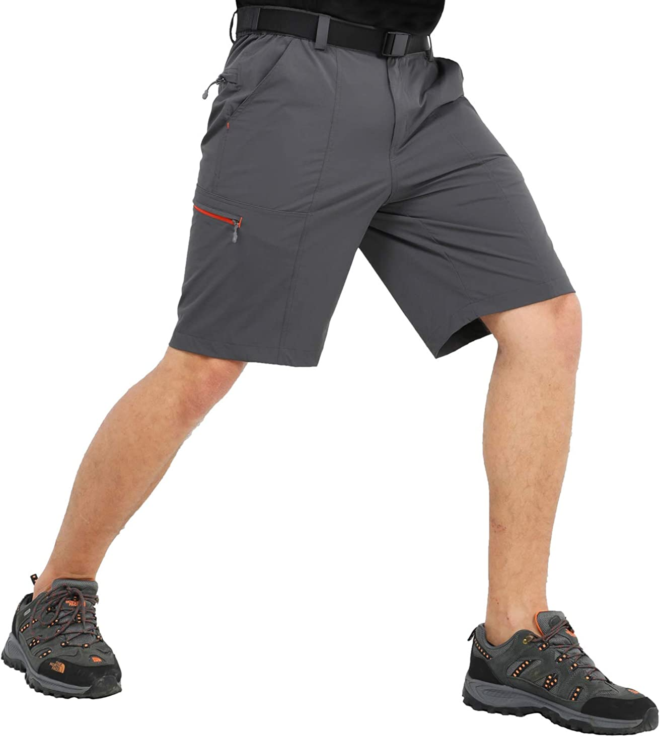 MIER Men's Hiking Cargo Shorts Quick Dry Outdoor Nylon Short with 6 Pockets, Water Resistant