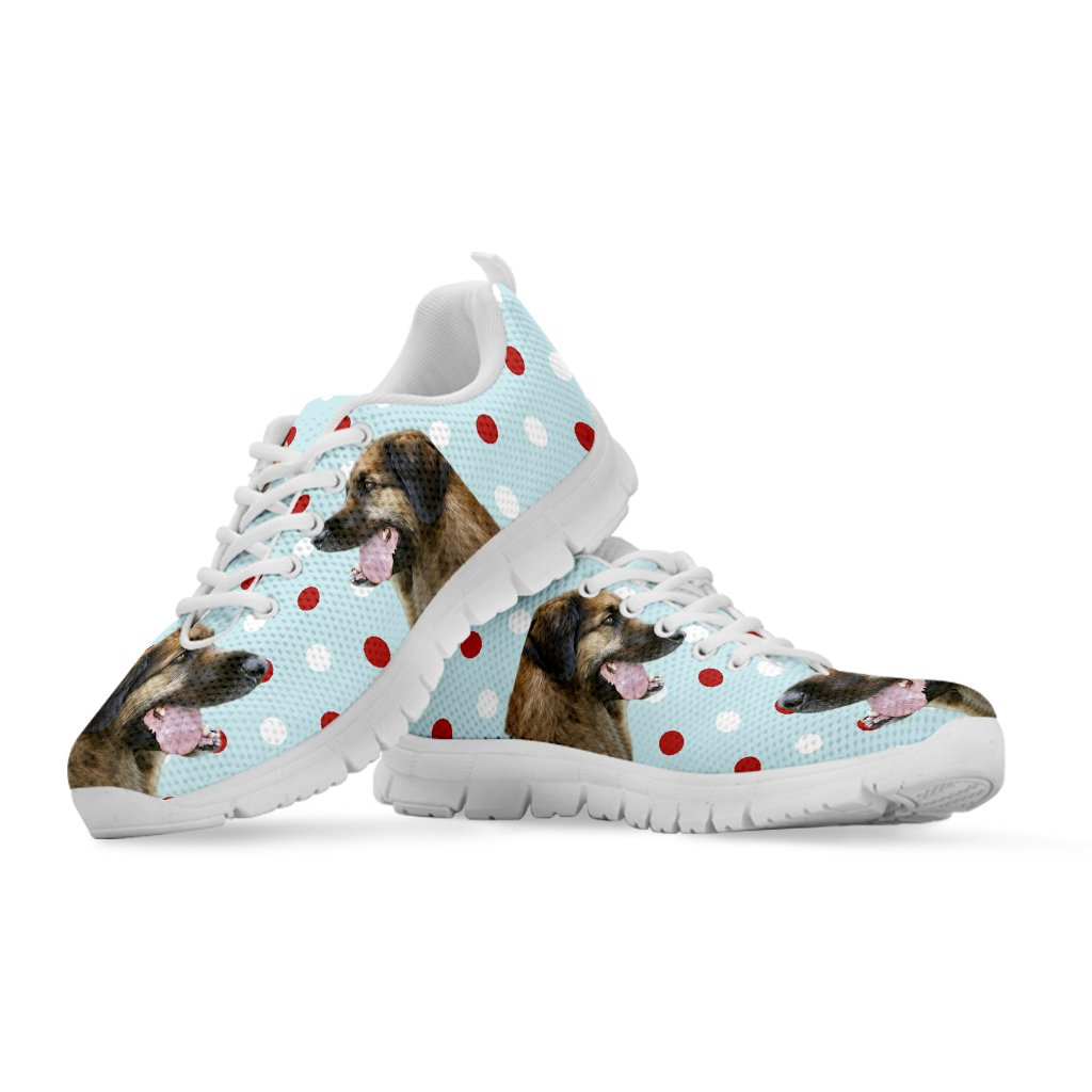 Pet Animal Designs Leonberger with Red White dots Print Running Shoes for Women
