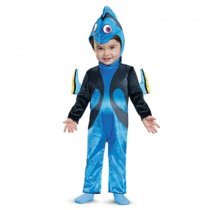 Disguise Girls' Finding Dory Costume, Blue, 6-12 Months