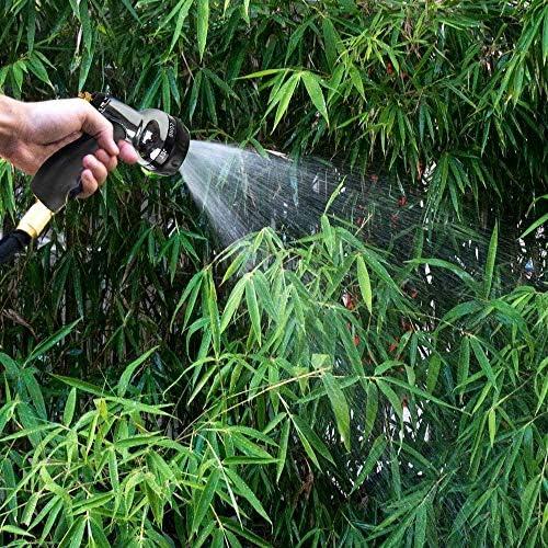 YDBET Gartenschlauch-Spritzpistole mit 7 Mustern, Heavy Duty Metallgartenschlauch Düse Zink-Legierung Hochdruck-Wasserpistole für Pflanzen Gießen, Auto-und Haustier Washing