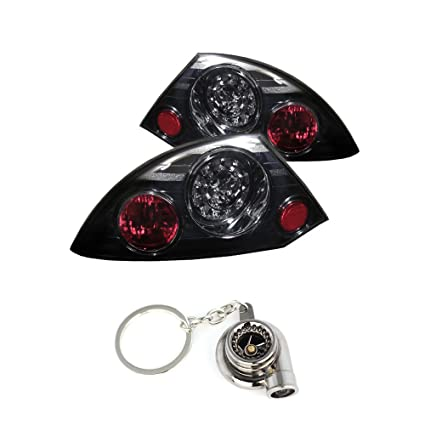 Amazon.com: Mitsubishi Eclipse LED Tail Lights Smoke Lens With Chrome Housing+Free Gift Key Chain Spinning Turbo Bearing: Automotive
