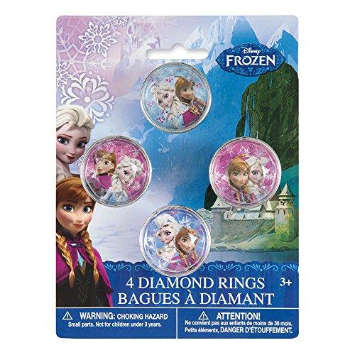Plastic Disney Frozen Diamond Ring Party Favors, 4ct]()