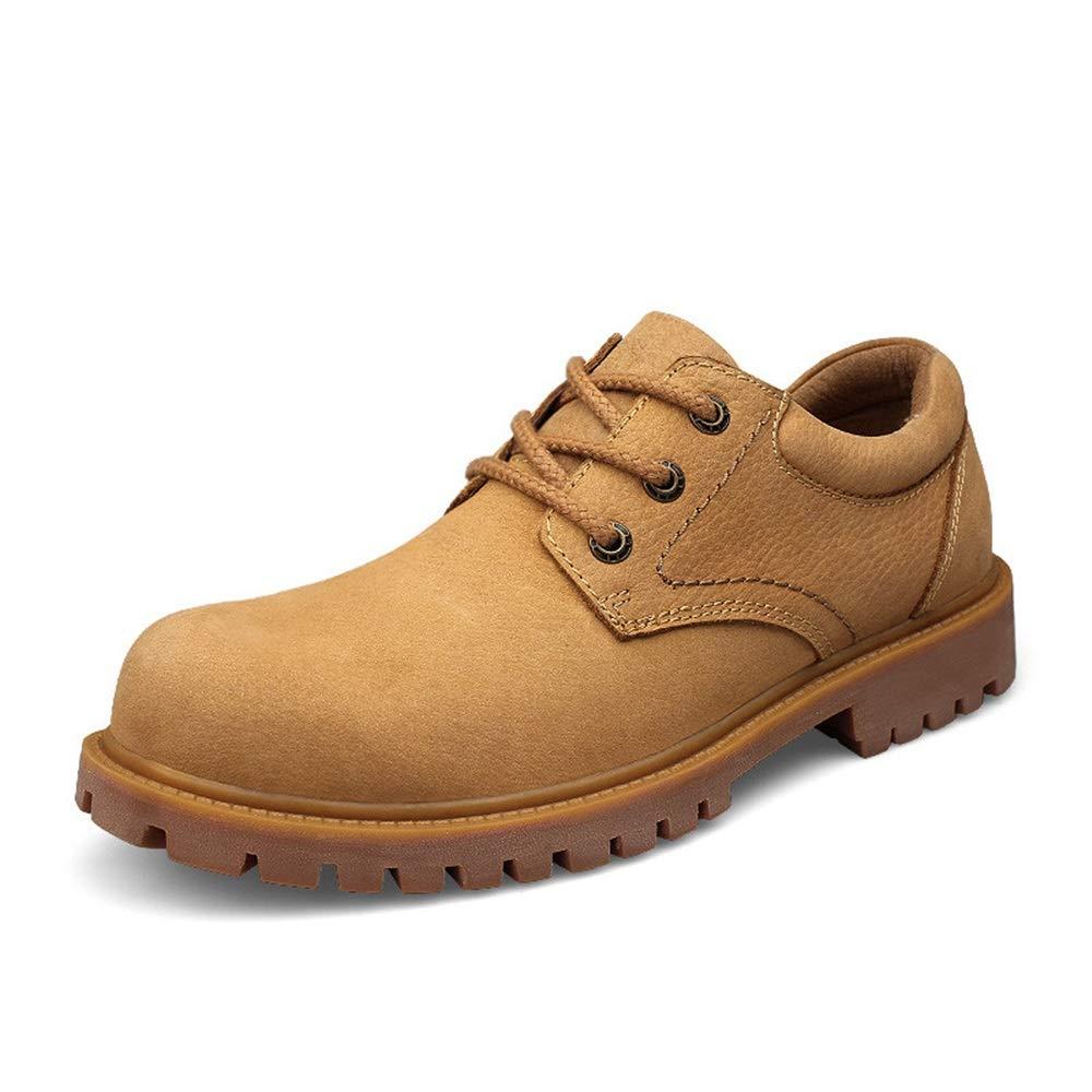 MXNET Herrenmode Stiefeletten Casual Klassisch Britischen Stil Komfortable Wear Work Stiefel männer (Farbe   Gold, Größe   41 EU)