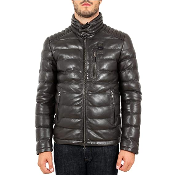 nuovo stile 6a78c c7626 Blauer Bomber in Pelle Uomo Mod. BLUL01326: Amazon.co.uk ...
