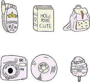 GYAYU Enamel Pins Set Cute Cartoon Brooches Lapel Badge Women Clothing Bag Decor