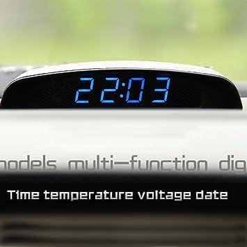 Amazon.es: PolarLander 12V del Coche 3 en 1 Reloj del Coche Theromometer y Monitor de Voltaje Siete Tipos de Modo de visualización