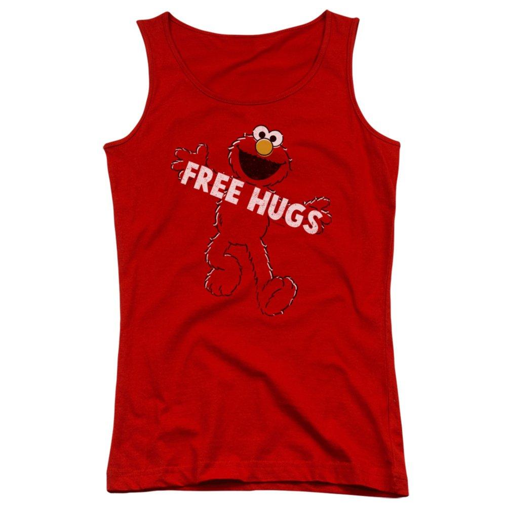 Juniors Tank Top: Sesame Street- Elmo Free Hugs Juniors (Slim) T-Shirt Size L
