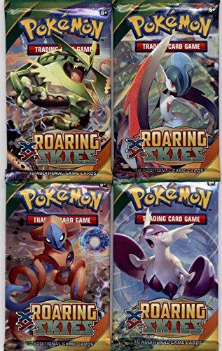 4 (Four) Packs - Pokemon Trading Card Game: XY Roaring Skies Booster Packs