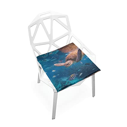 PLAO Chair Pads Ocean Turtle Soft Seat Cushions Nonslip Chair Mats For  Dining, Patio,