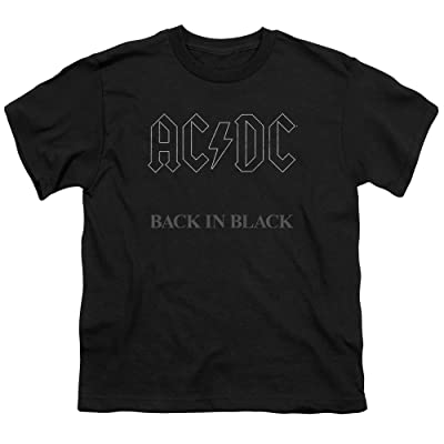AC/DC Back in Black - Youth T-Shirt: Clothing