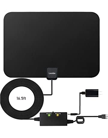 dc634147e05 Amplified HD Digital TV Antenna,Skywire TV Antenna 80 Miles Range, Support  4K 1080P