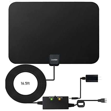 Amplified HD Digital TV Antenna,Skywire TV Antenna 80 Miles Range, Support  4K 1080P, All Older TV's for Indoor Amplified Digital TV Antennas with