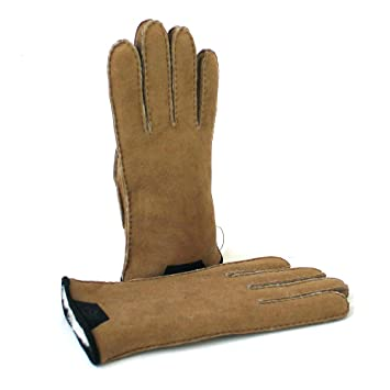 c772d997b29 UGG SHEARLING LEATHER TRIM MEN Glove 2019 chestnut: Amazon.co.uk ...