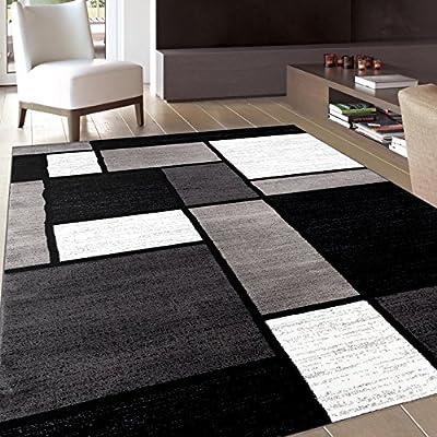 "Rug Decor Contemporary Modern Boxes Area Rug, 7' 10"" by 10'2"", Multicolor"