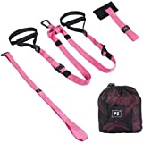 Hotsung Bodyweight Resistance Straps Trainer Bundle   Sports Bodyweight Fitness Resistance Trainer Kit   Suitable for Gym Workouts for Home, Travel, and Outdoor