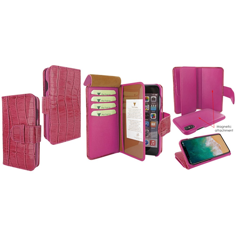 Piel Frama U793COP Case ''WalletMagnum'' for iPhone X - Fuchsia
