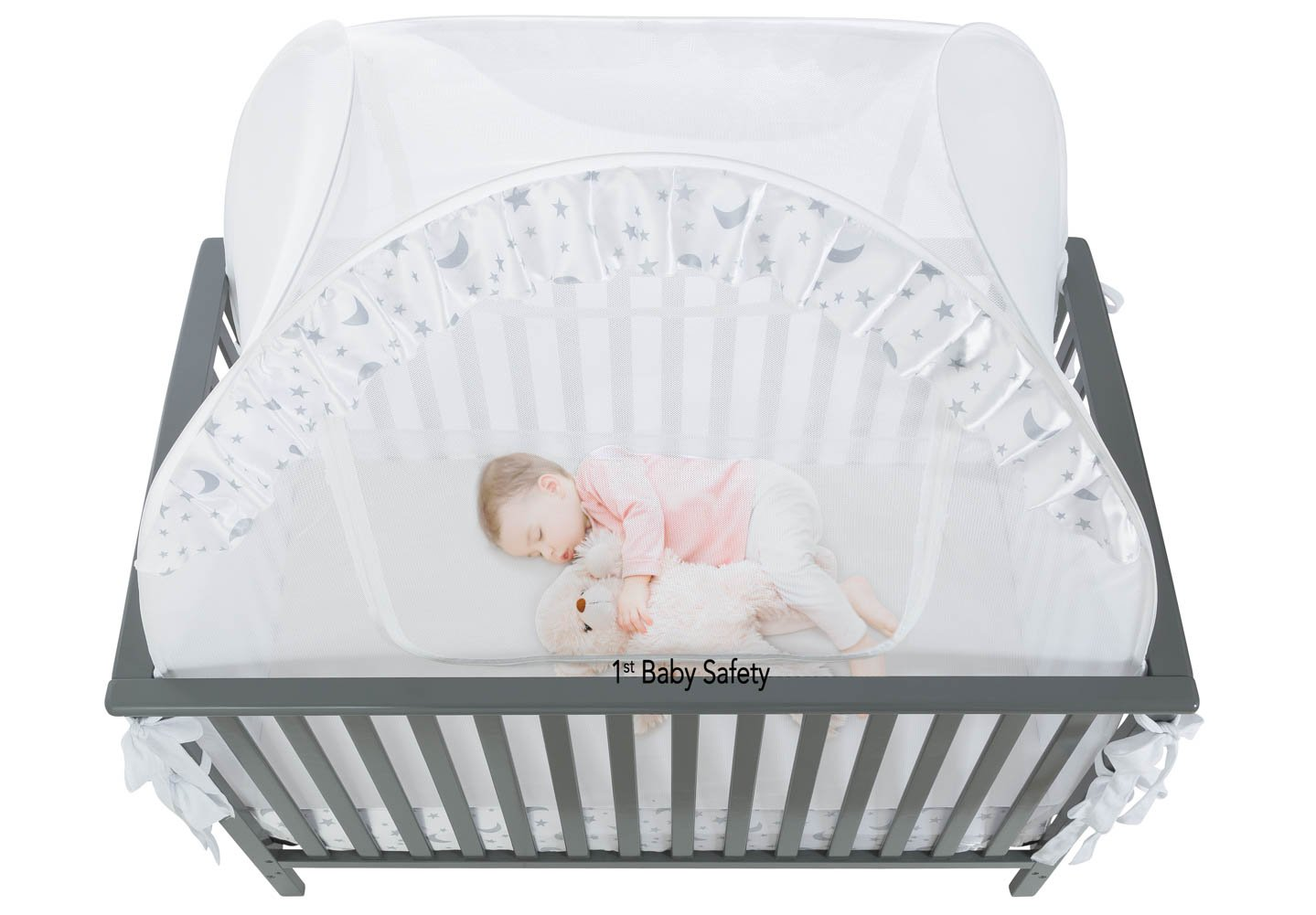 Amazon.com  SEE THROUGH MESH TOP - Baby Crib Tent Safety Net Pop Up Canopy Cover  Baby  sc 1 st  Amazon.com & Amazon.com : SEE THROUGH MESH TOP - Baby Crib Tent Safety Net Pop ...