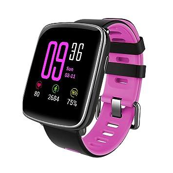 Diente Azul Reloj Inteligente Smart Watch Moda Chapado en Metal GV68 QQ Wechat para iOS Android