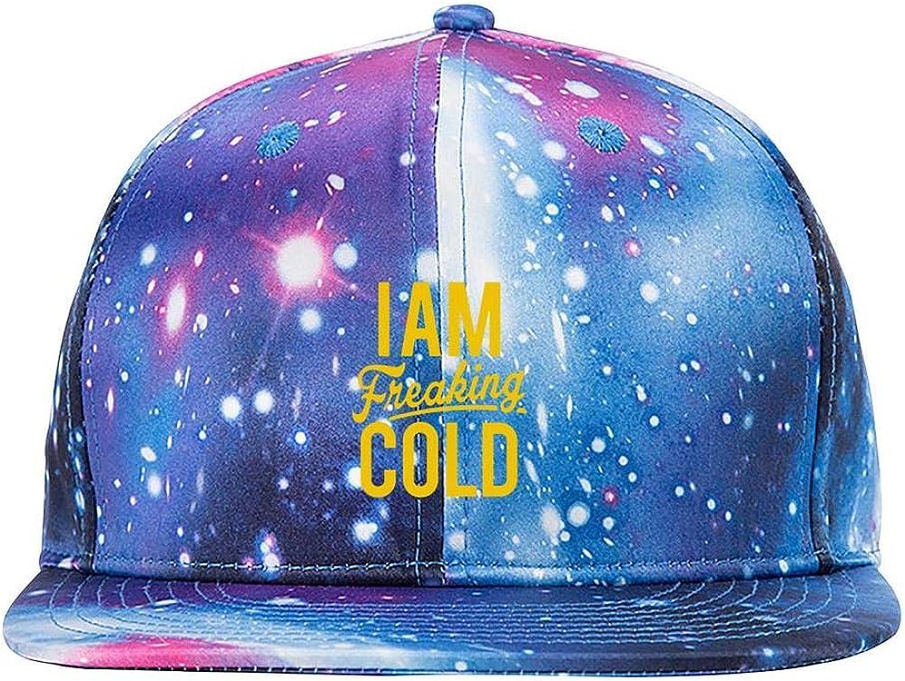 tolbert wisfins Im So Freaking Cold Galaxy 3D Printed Baseball Cap Snapback Trucker Hat Hip Hop Hats for Men Women Blue