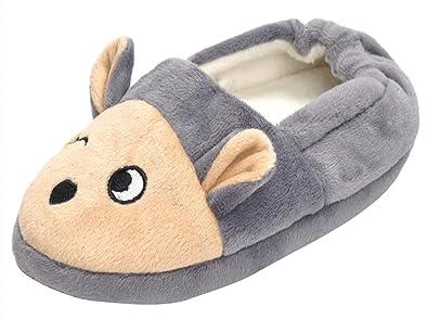 264e484dd51e4 Cloud Kids Chaussons Enfant Fille Garçon Velours Pantoufle Antidérapante  Bébé Slipper House Shoes Cartoon Souris