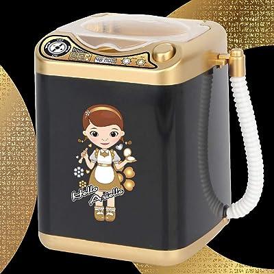 MIsha Toy Mini Washing Machine Maquillaje Automático Limpiador De Pinceles Secos Cepillos De Limpieza Profunda Esponja Polvo Puff Tiktok Juguete: Juguetes y juegos