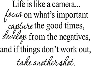 Hi-Shop Life is Like A Camera Quote Decors Wall Saying Decals Quote for Home Wall Stickers Nursery Decor(2)
