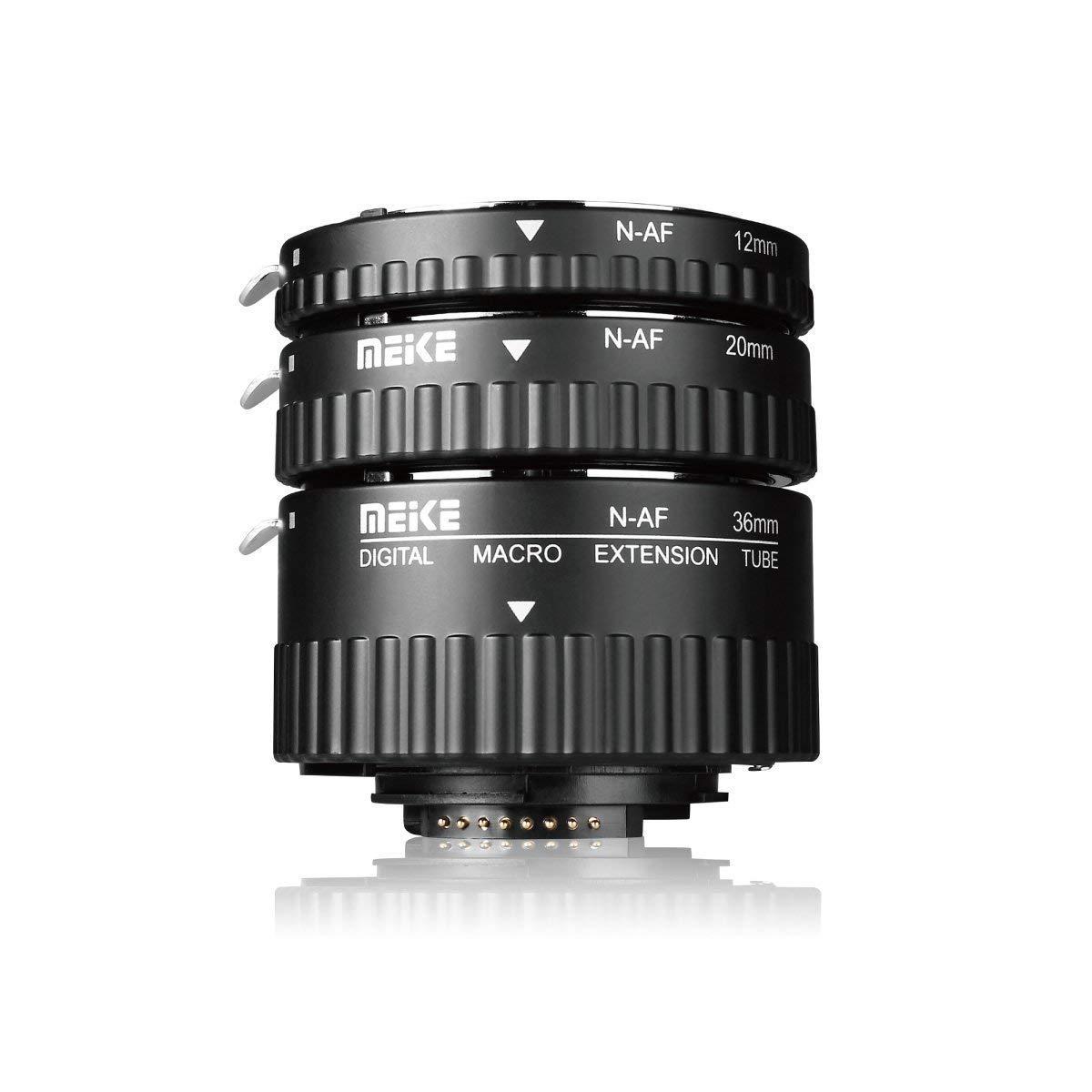 Meike MK-N-AF1-A Macro Electronic Mount Auto Foucs Macro Metal Extension Tube Adapter Nikon DSLR Camera D80 D90 D300 D300SD800 D3100 D3200 D5000 D51000 D5200 D7000 D7100 etc
