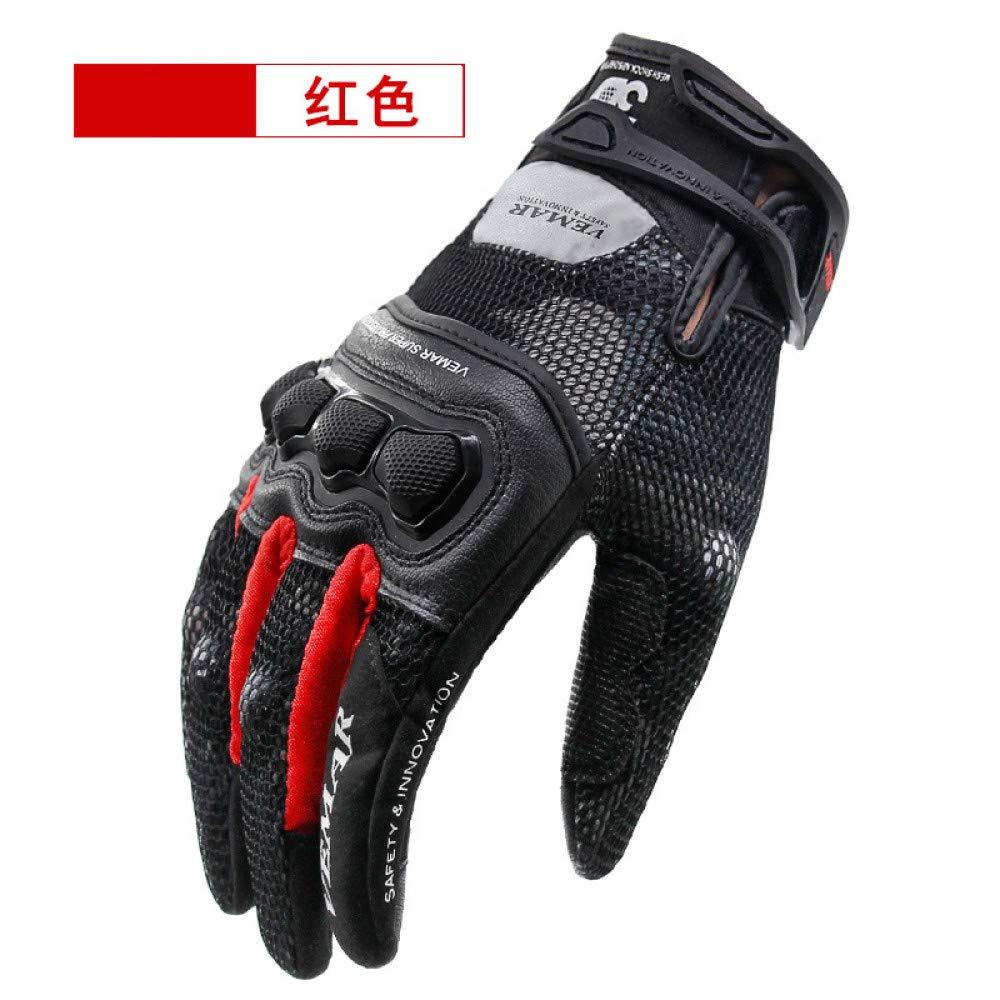GLOVESCOA Motorradhandschuhe Herren Sommer Reiten Rennlokomotive Offroad atmungsaktiv Vier Jahreszeiten Persönlichkeit Tarnung Touchscreen bruchsichere Handschuhe,